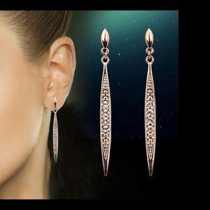 ❤️Stunning, rose gold earrings